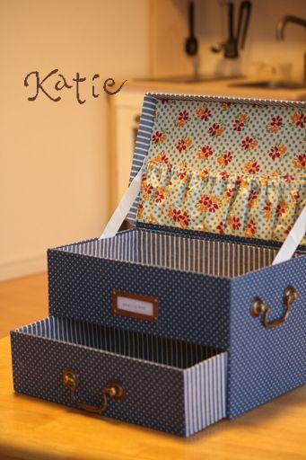 「ソーイングボックス ~カルトナージュ~」の画像 katieのブログ  Ameba (アメーバ)