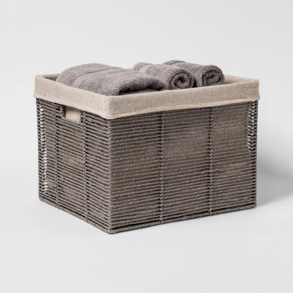 Twisted Paper Rope Large Milk Crate Gray 11 X13 Threshold Milk Crates Crates Quick Cleaning