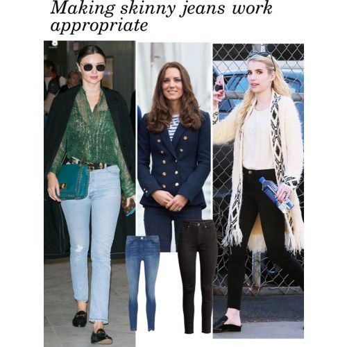 15 ideas on how to make skinny jeans appropriate for work