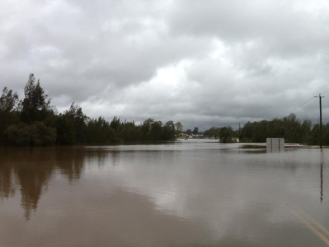 Flooding over the Mt Lindesay Hwy near Jimboomba