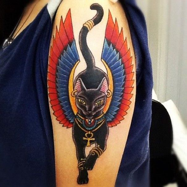 shoulder ankh tattoo