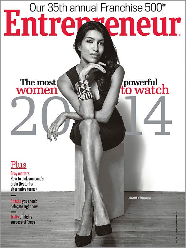 """Entrepreneur magazine - January 2014 featuring """"The most powerful #WomentoWatch 2014"""""""