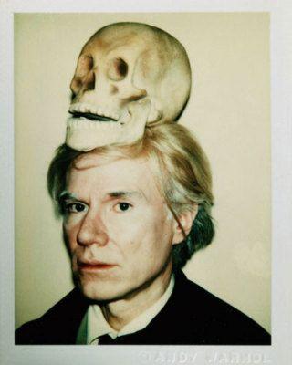 Self-Portrait with Skull, 1977, Andy Warhol Tavlor, Glicée