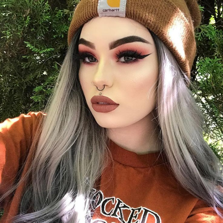 Beanies and Black Magic Lashes!  Cutie @kayyfiree kickin' it casual, but serving this warm smoldering makeup look in 'Slayer' lashes and terracotta lips. Girl crush status.  #rougeandrogue