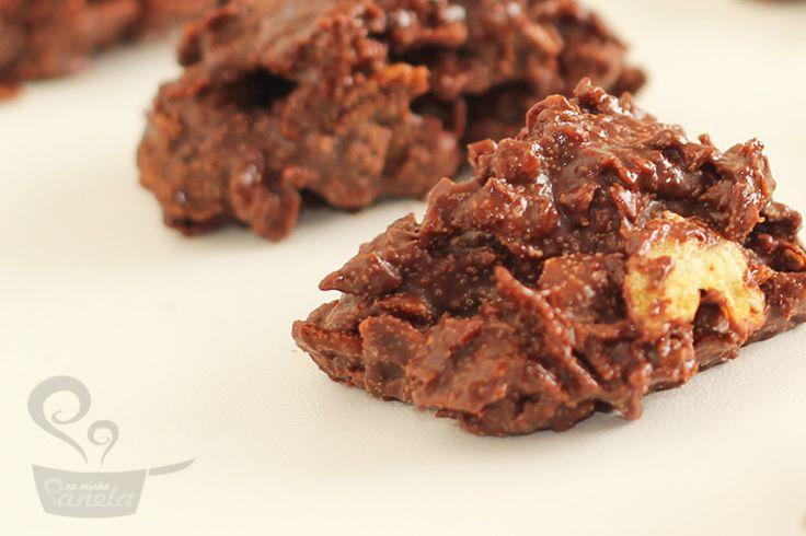 crocante de chocolate com coco