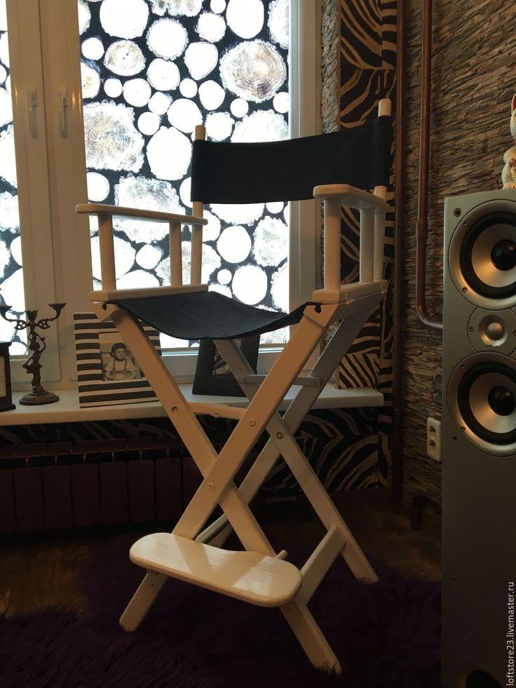 Купить Кресло режиссера LOLO - белый, стул режиссера, деревянный стул, режиссерское кресло