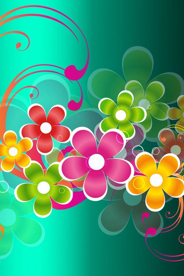Flower power wallpaper