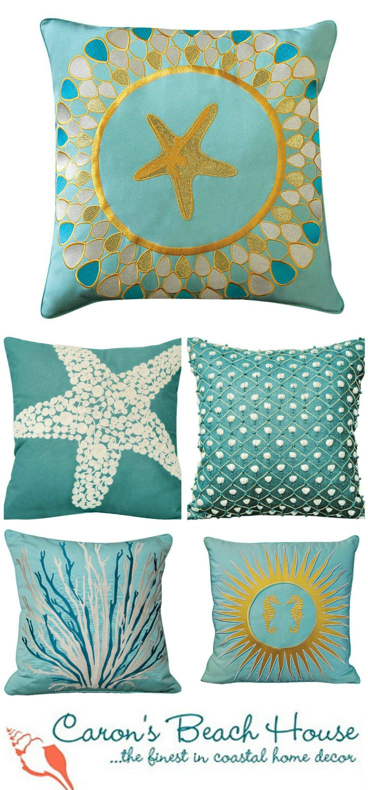 Starfish Shaped Decorative Throw Toss Pillow Nautical Beach Coastal Decor