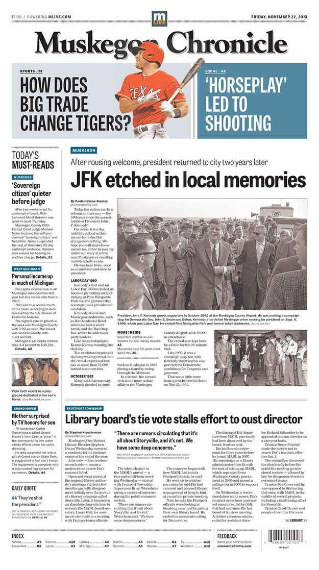 Первые полосы американских газет в годовщину убийства Джона Кеннеди – Антон Чугринов – Блог – Сноб