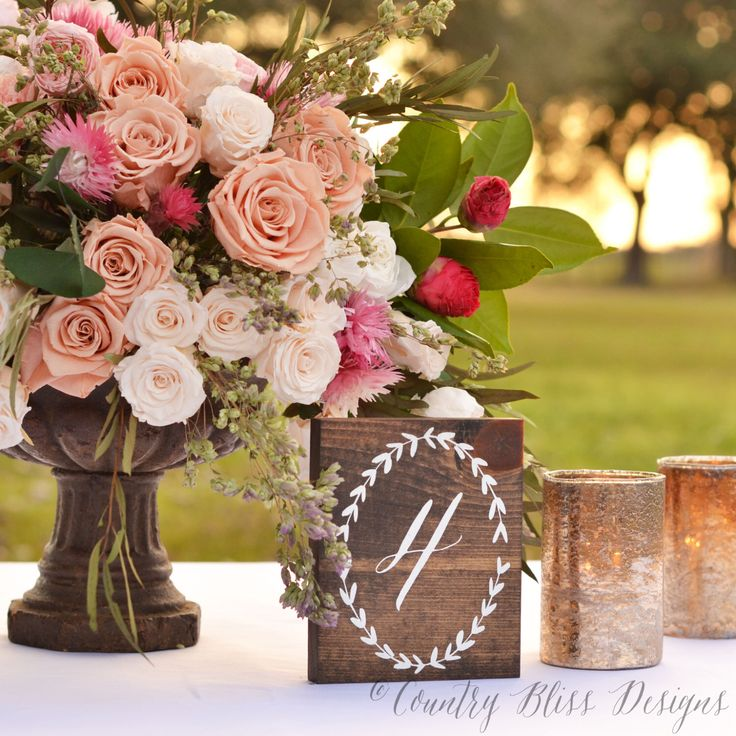 Wood Table Numbers, Wedding Table Numbers, Wooden Table Numbers, Calligraphy Table Numbers, Laurel Wreath Table Numbers, Rustic Table Number by countryblissdesigns on Etsy https://www.etsy.com/listing/199016299/wood-table-numbers-wedding-table-numbers