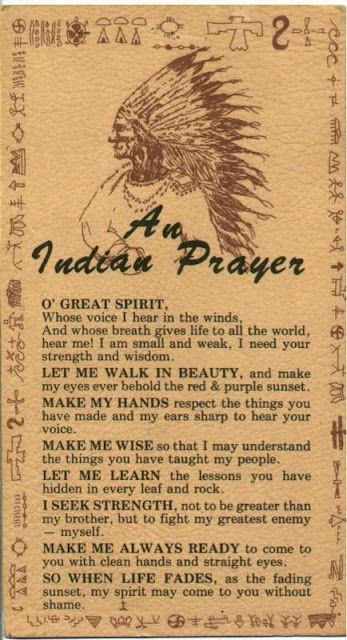 A Native Prayer 8/2/2013 Love Minister RuthAnn