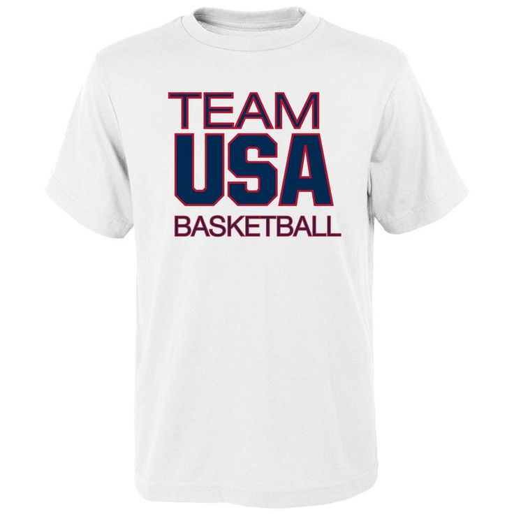 Team USA Basketball Youth Pride for National Governing Body T-Shirt - White