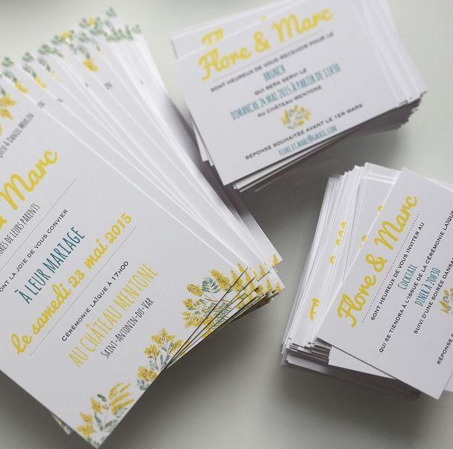 Exceptionnel 205 best Mon Faire-part de Mariage // My Wedding Invitation images  SC04