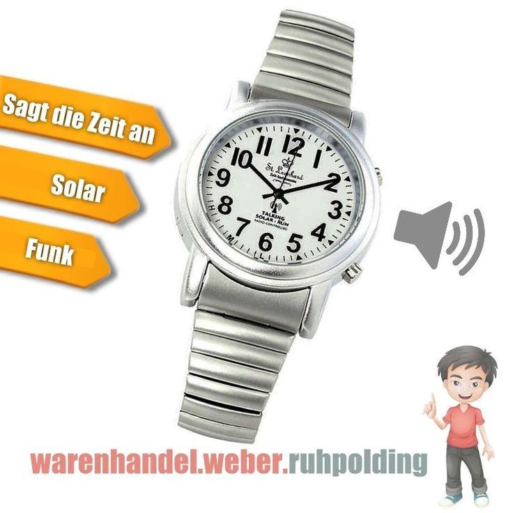�� Sprechende Armbanduhr, Solaruhr, Funkuhr, Seniorenuhr, Talking Watch, ��