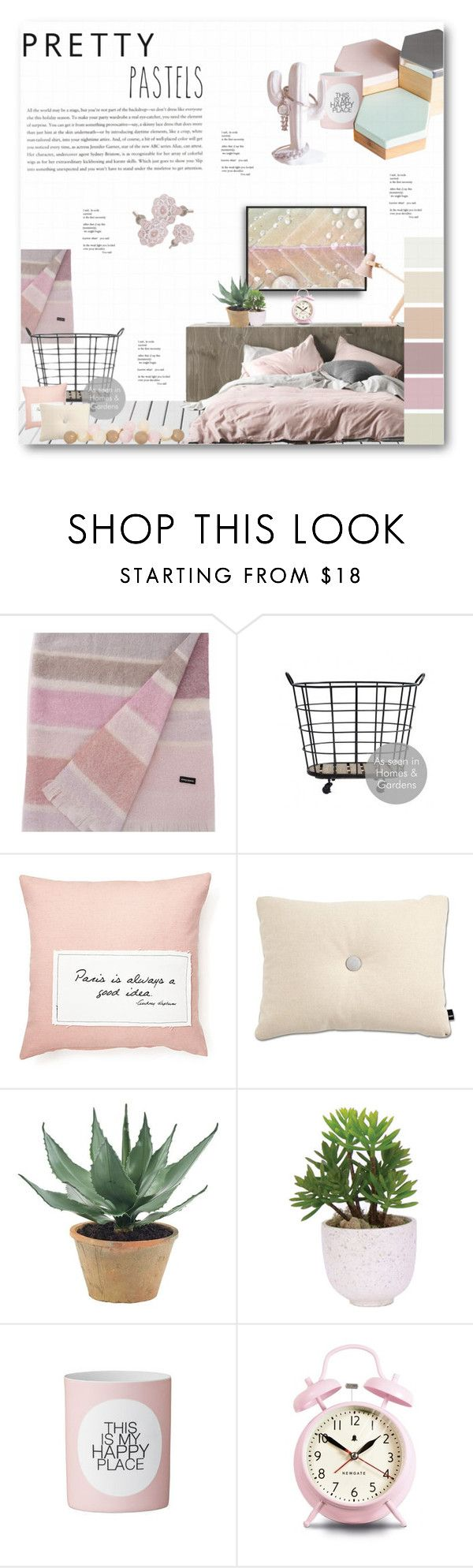 """Pretty Pastels"" by dittestegemejer ❤ liked on Polyvore featuring interior, interiors, interior design, home, home decor, interior decorating, Sonia Rykiel, French Laundry Home, NDI and Lux-Art Silks"