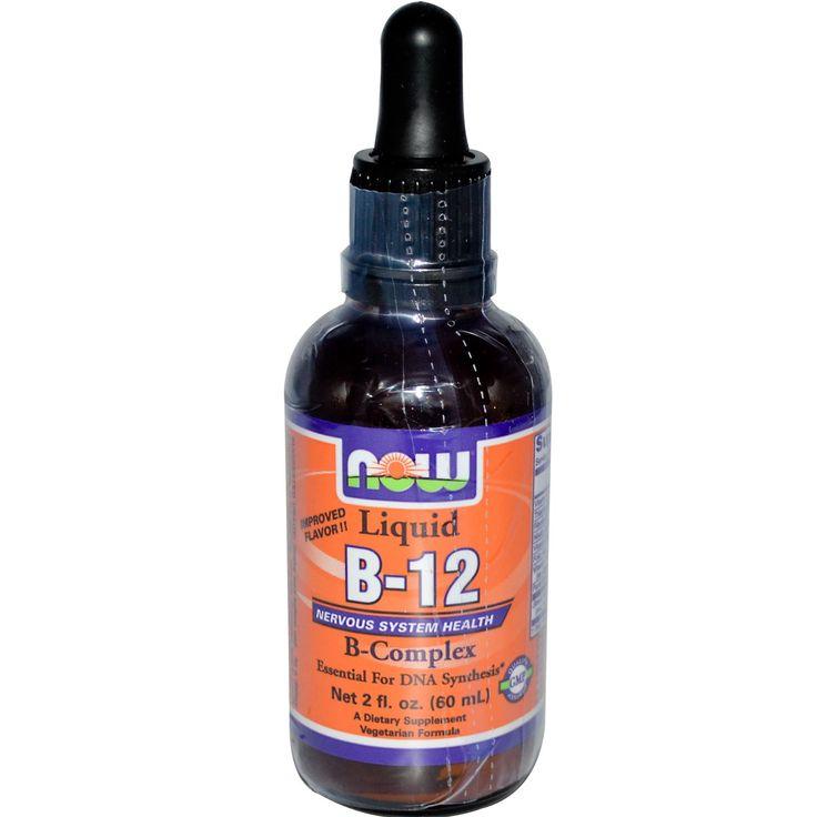 Now Foods, Liquid B-12, B-Complex, 2 fl oz (60 ml) - iHerb.com $6.36