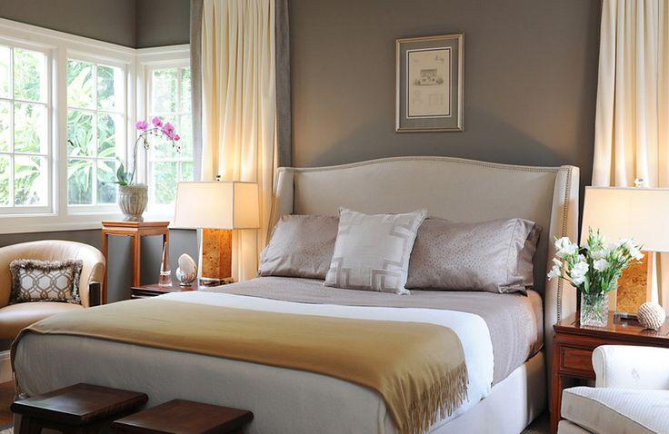 contemporary bedroom by Brian Dittmar Design, Inc.  Gray & Tan Color Scheme