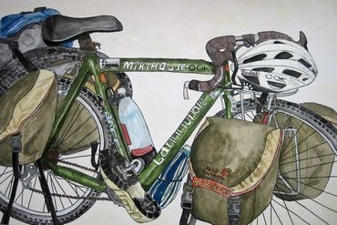 11years old 「自転車 (水彩)」