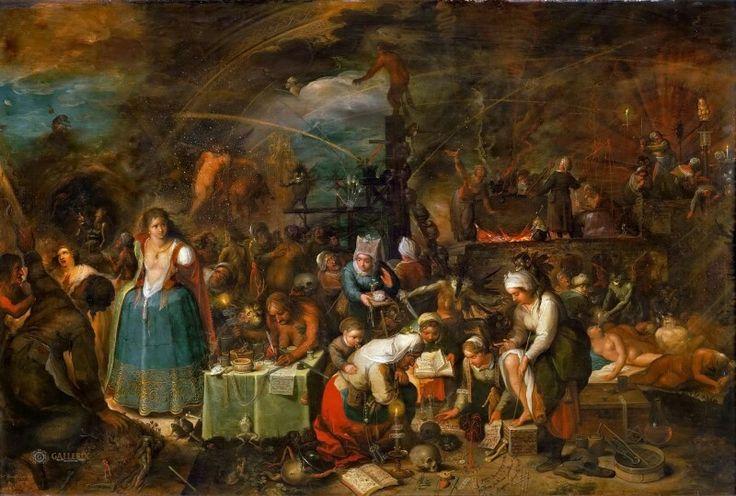Шабаш ведьм (Hexenversammlung) 56 х 83.5. Вена, Музей истории исткусств