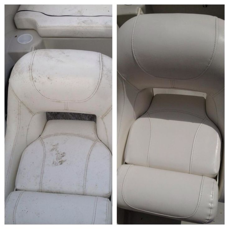 Boat seats cleaned with tilex. Couldn't believe how well it worked!