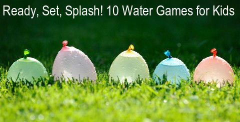 Kids will love these fun water games in the summertime. #water #games #kids #activities #outdoor #outdoorgames #fun #summer