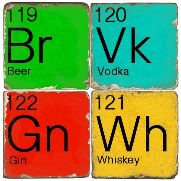 colorful chemistry coasters - Cool Coasters