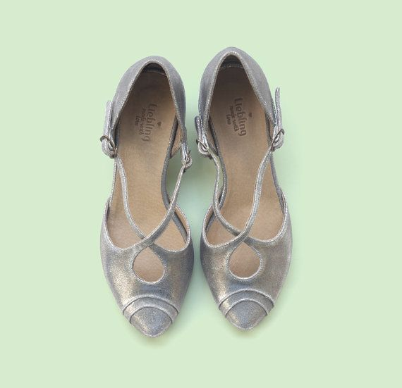 New Silver Shoes Robin model. Women shoes leather by LieblingShoes