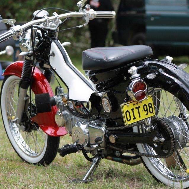 Cool postie bike