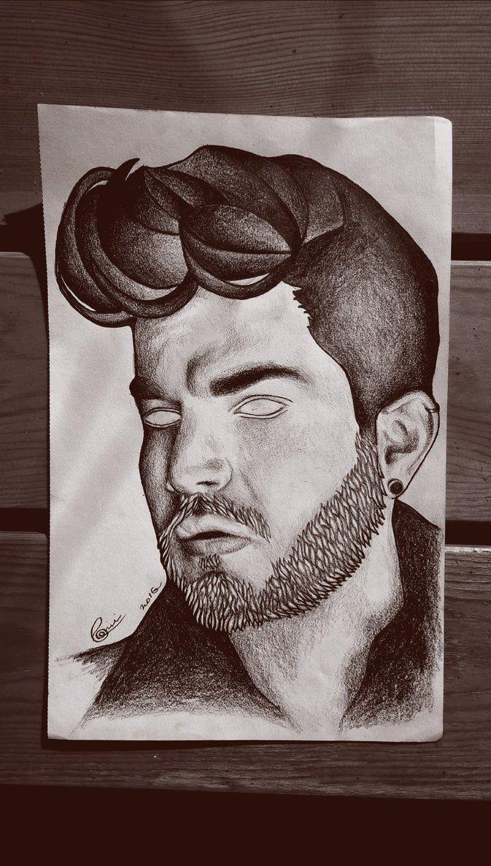 Adam Lambert  #adamlambert #love #adamlambertart #art #artowork #draw #drawing #fan #fanart #wood #man #pencil #pencilart #adamlaberttheest