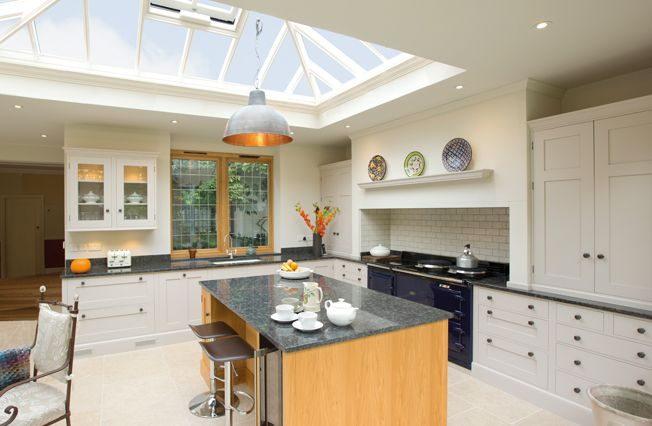 Large Light And Airy Kitchen Extension With Roof Lantern