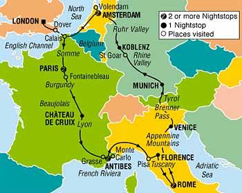 14 Day Budget Backpacker Tour of Europe by coach - European Highlights