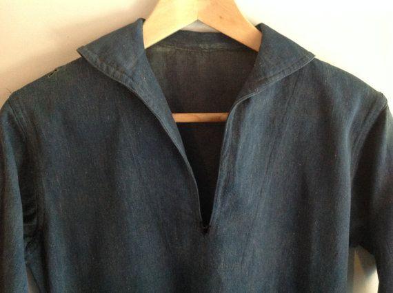 Usn Denim Pullover Jacket  WWI  Pre WWII  by GentlemanMountain