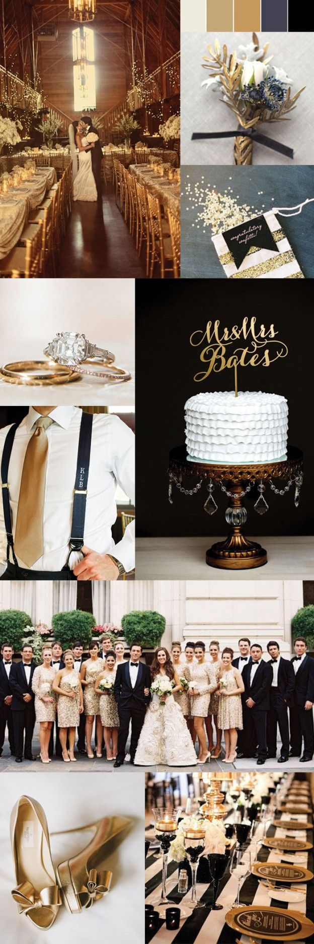Gold Themed Wedding Ideas