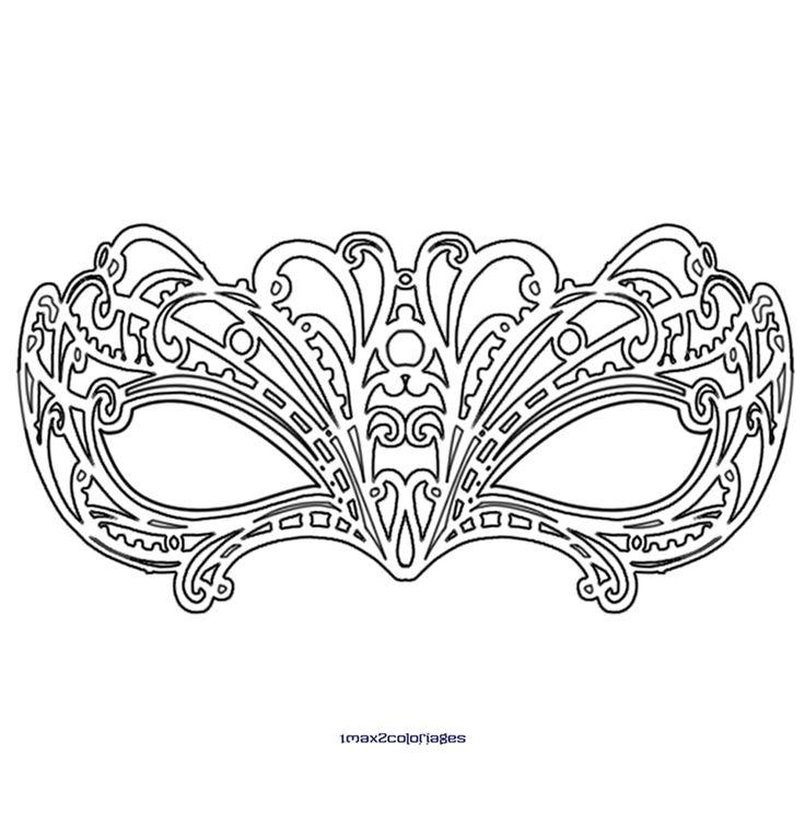 Dessin masque vénitien                                                                                                                                                                                 Plus