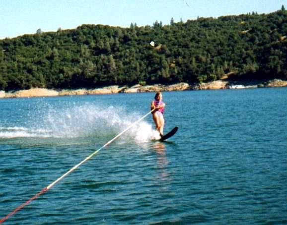 water skiing in Lake Okanagan.