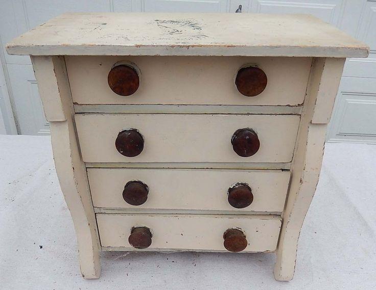 Antique Primitive Painted Child S Miniature Dresser: 304 Best Worn Wonderful White Wood Images On Pinterest