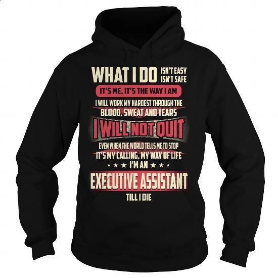 Executive Assistant Job Title T-Shirt - #funny hoodies #funny t shirt. PURCHASE NOW => https://www.sunfrog.com/Jobs/Executive-Assistant-Job-Title-T-Shirt-Black-Hoodie.html?60505