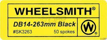 Wheelsmith 2.0/1.7 x 296mm Black Spokes. Bag of 50. by Wheelsmith. Wheelsmith 2.0/1.7 x 296mm Black Spokes. Bag of 50. 296mm.
