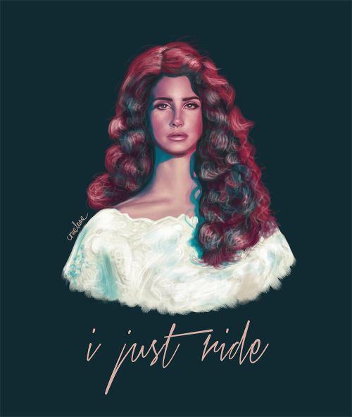 Lana Del Rey #LDR #art #Ride