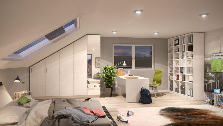 26 best m bel nach ma mit schr ge images on pinterest attic spaces bedroom suites and bedrooms. Black Bedroom Furniture Sets. Home Design Ideas