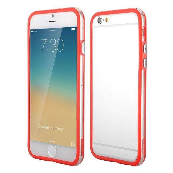 Rood / transparante bumper voor iPhone 6 Plus