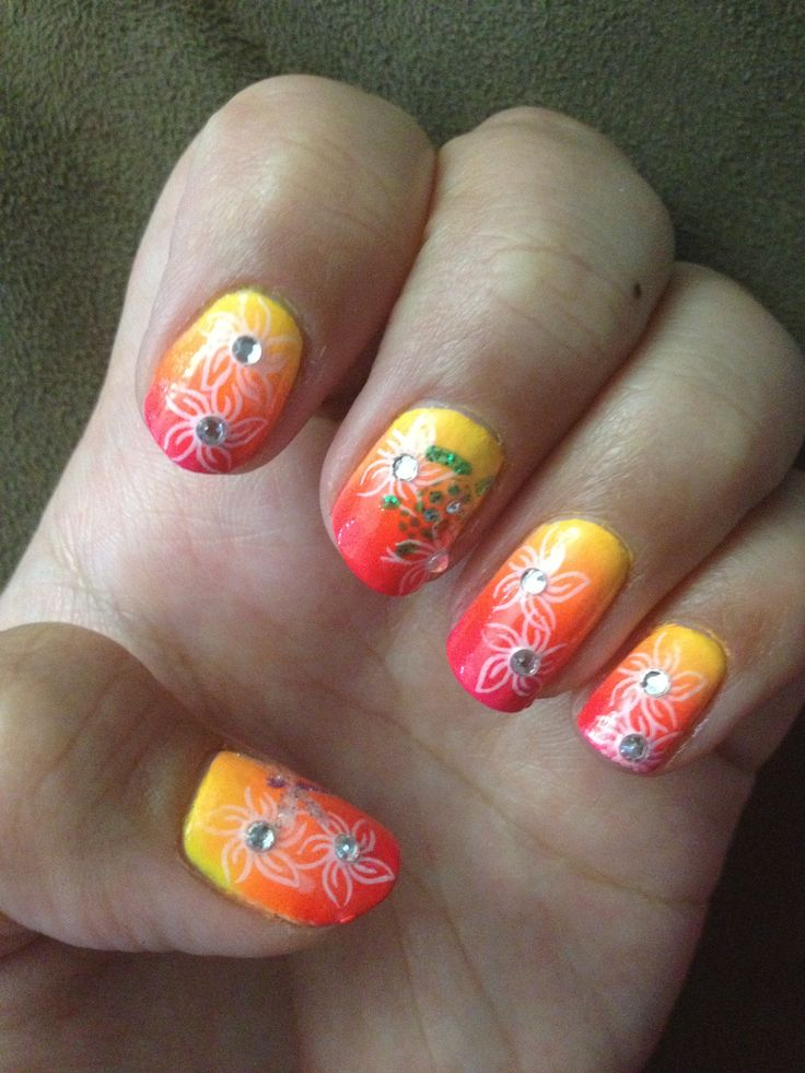 194 best nail art we love images on pinterest nailed it cute nail art see more second ombre attempt did a luau theme used the stamping method and colorclub prinsesfo Choice Image