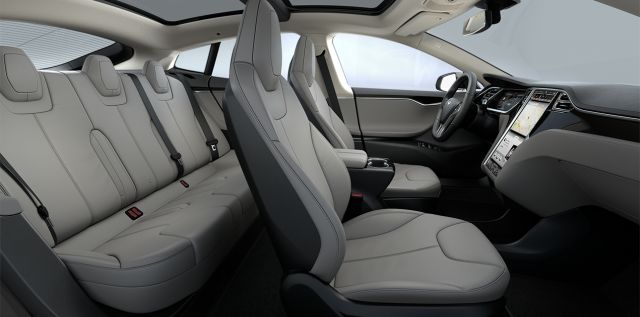 Tesla Model S Grey Interior