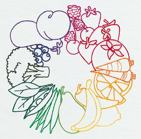 Eat the Rainbow | Urban Threads: Unique and Awesome Embroidery Designs