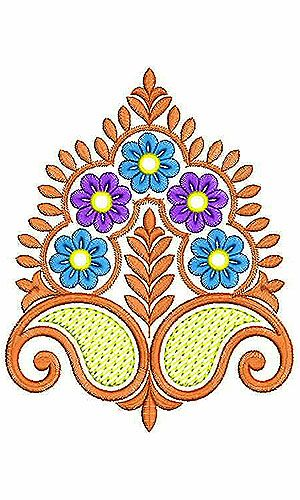 Kashmiri Scarf Corner Embroidery Applique Design | Indian Sozni Embroidery | Pinterest ...