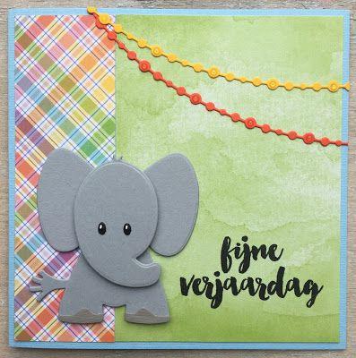 LindaCrea: Olifant #6 - Kleurrijke Verjaardag