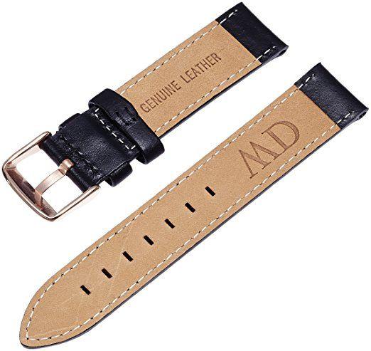 Daniel Wellington Damen Uhren-Armband Classic Sheffield Leder schwarz Schliesse roségold DW00200036: Amazon.de: Uhren