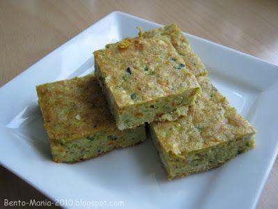 Bento-Mania.....verrückt nach der japanischen Lunch Box: Rezept: Vegetarische Zucchini-Tofu-Schnitte