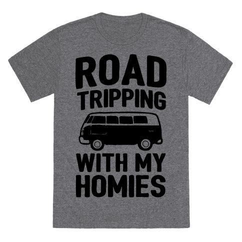 Me and my homies are going on a road trip. Show some nostaglic road trip humor in this 90s inspired road trip design. Perfect for long rides with good friends on the open road.