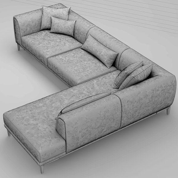 3d Sofa Natuzzi Trevi Model In 2020 Sofa Bed Furniture Living Room Sofa Design Sofa Styling